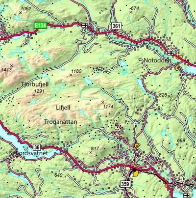 Lifjell-kart
