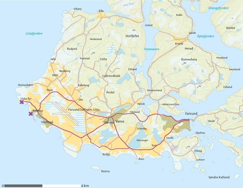 Lista-med-sykkel-Kart