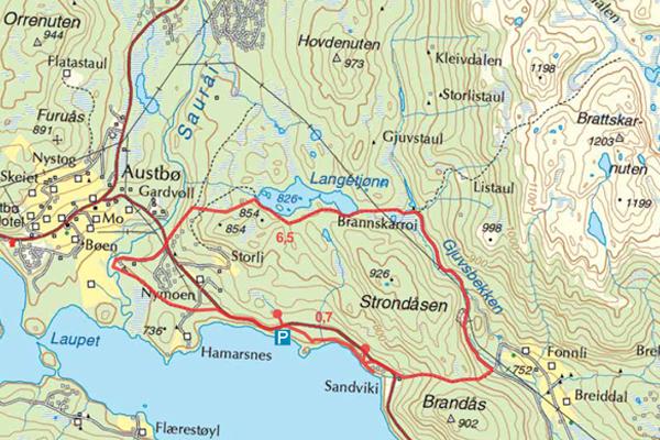 Longvikvatn - Langetjønn – Brandås