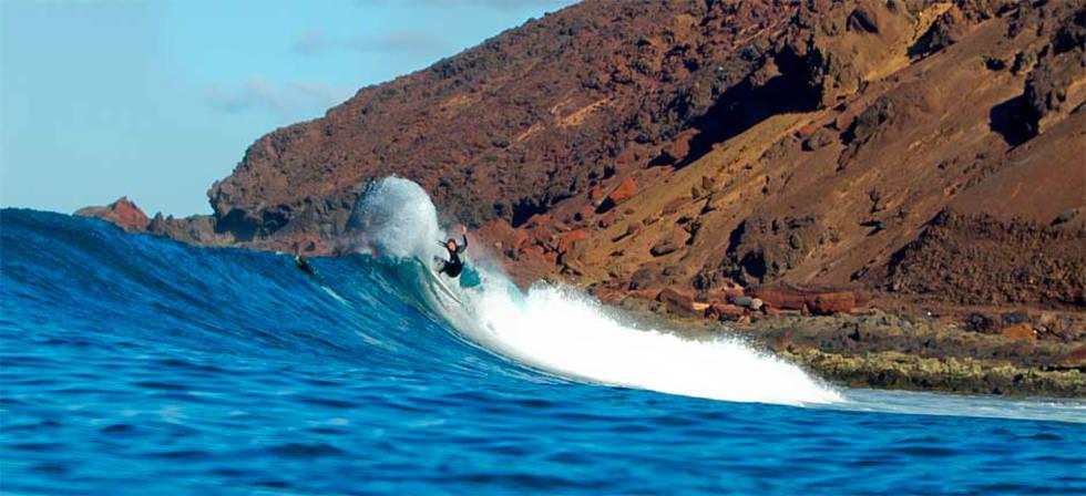 Europa lengste bølge ligger på Kanariøyenes Fuerteventura og heter Los Lobos.