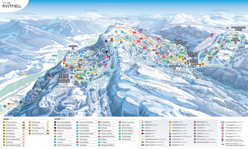 løypekart kvitfjell ski alpint guide fri flyt snowboard