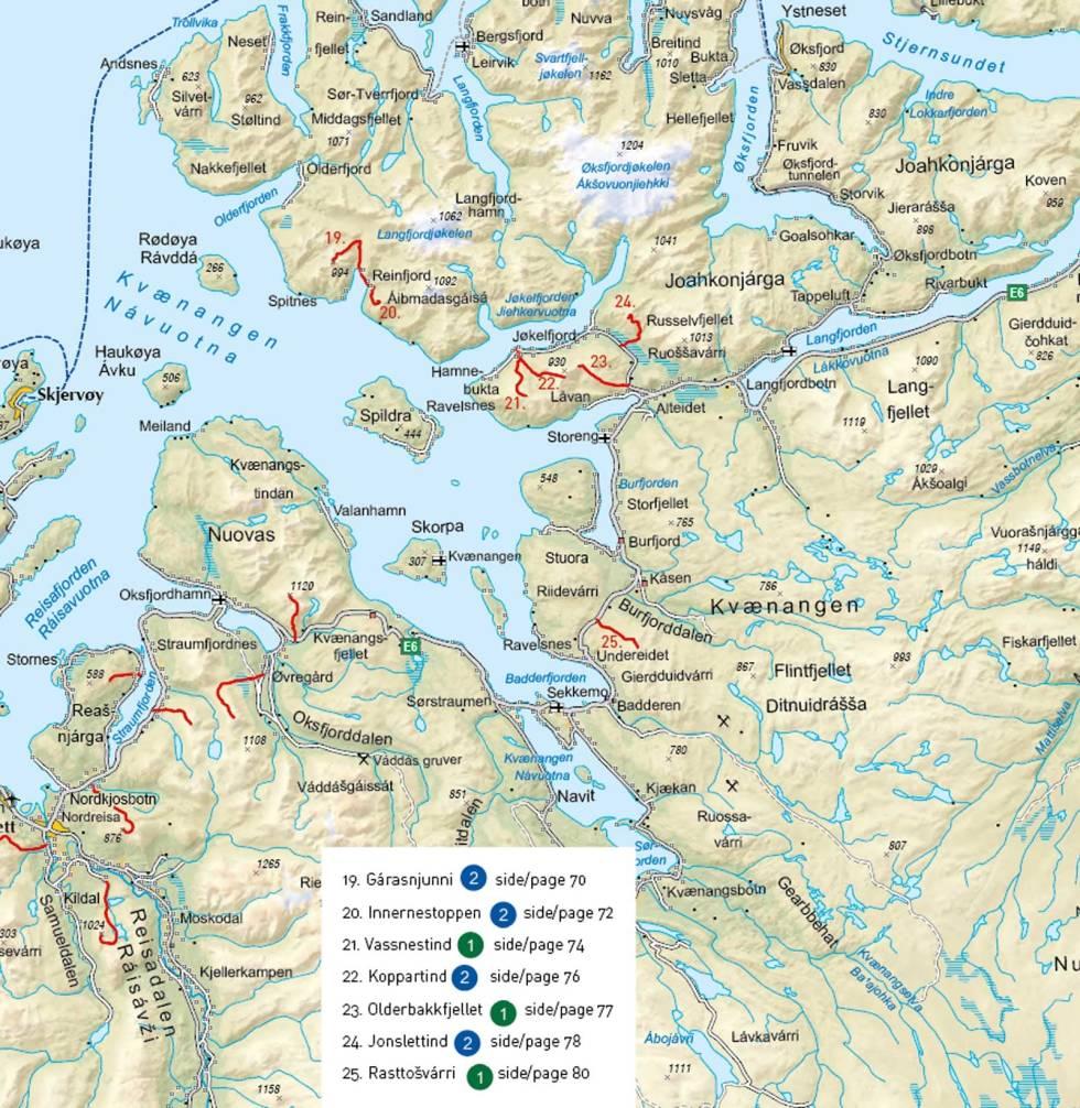 Lyngenfjord-Kvænangen-Oversiktskart