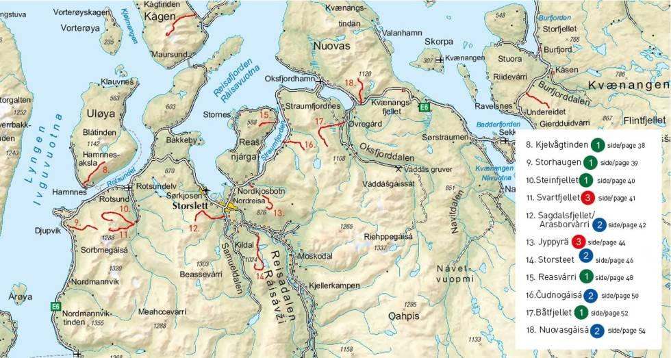 Lyngenfjord-Nordreisa-Oversiktskart