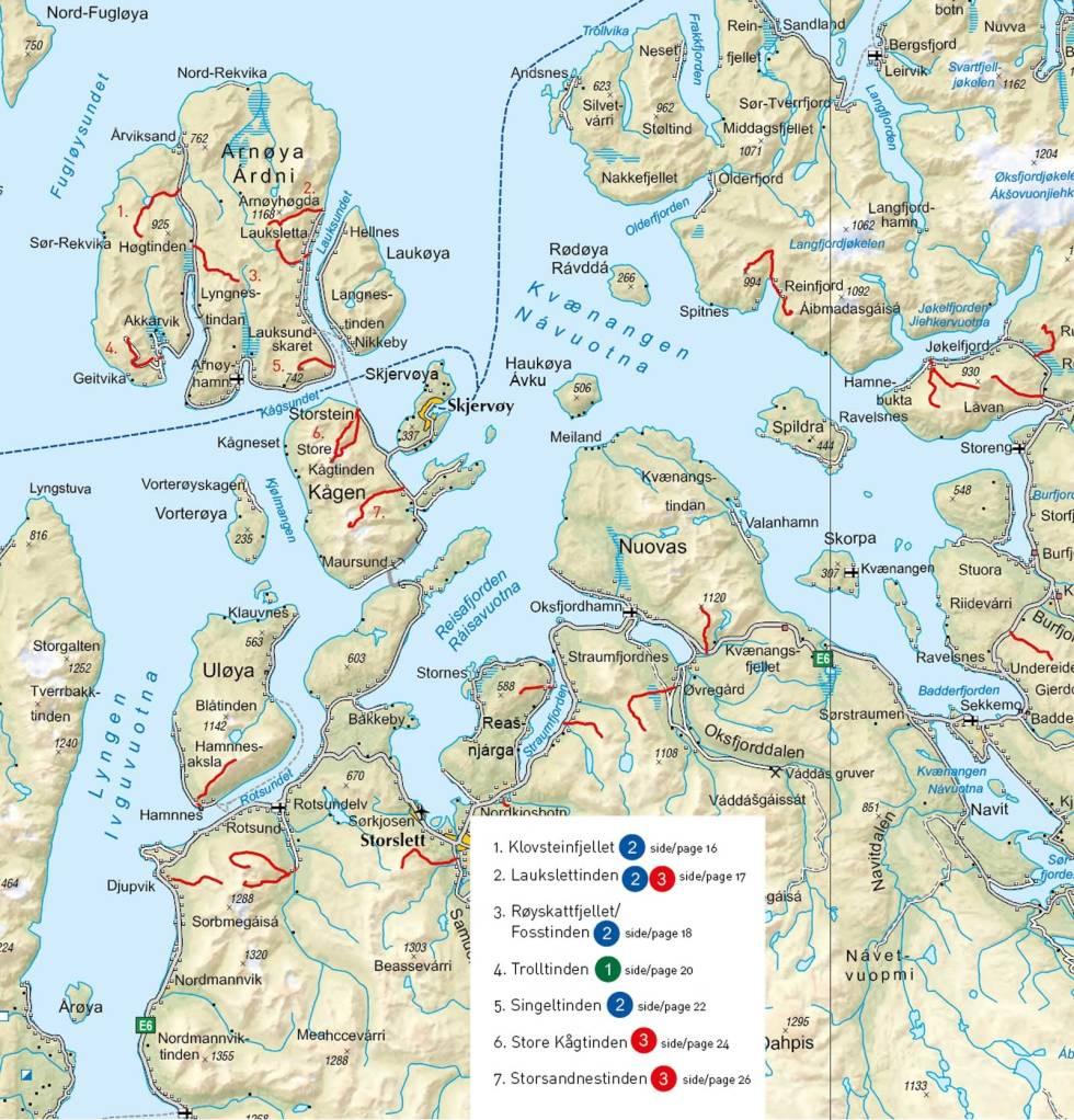 Lyngenfjord-Skjervøy-Oversiktskart