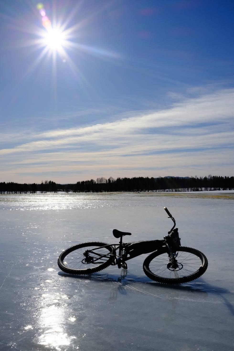 Utsikt vintersykling i Svartholtet i Elverum