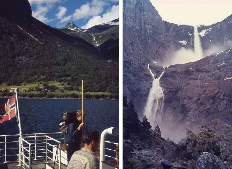 MARDØLA 1970: Bildet til høyre er fra noen år tidligere. Foto: Vidar Halaas