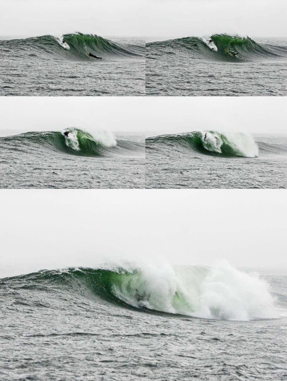 Den sagnomsust bølgen i Østfold kommer raskt og brutalt. Thomas G. Olsen får en runde i vaskemaskinen.