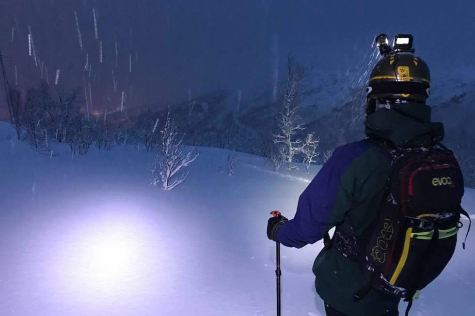Narvik pudder freeride kveldskjøring ski