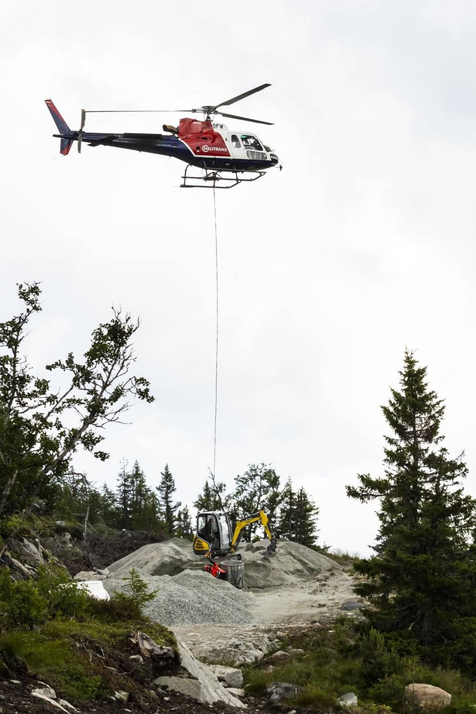 stisykling nesbyen hallingspranget helikopter