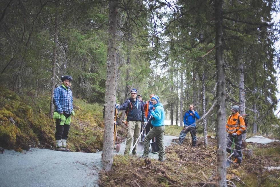 Nilsbyen terrengsykkelpark i Trondheim
