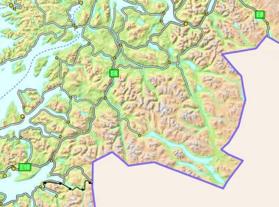 Nordkalottruta-kart