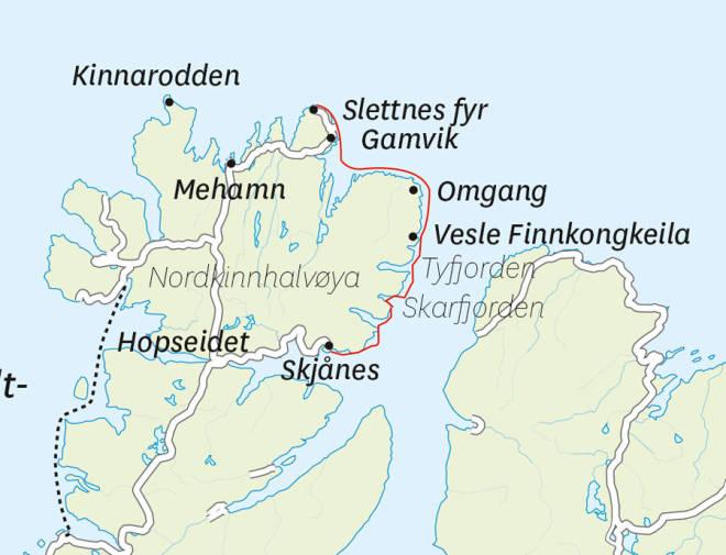 Nordkinn-padling-kart