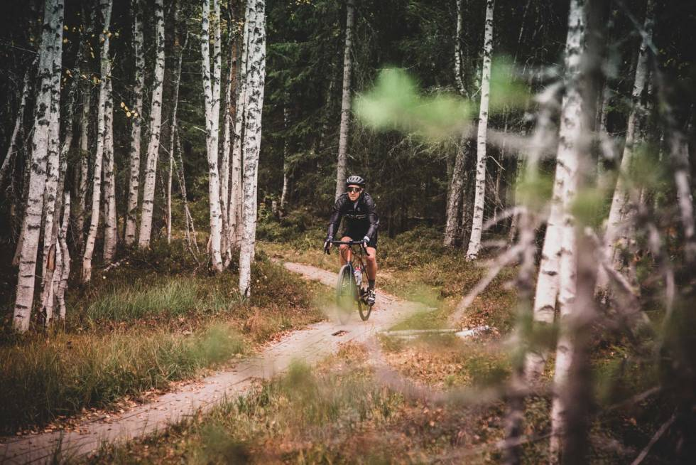 sykle gravel grus i nordmarka