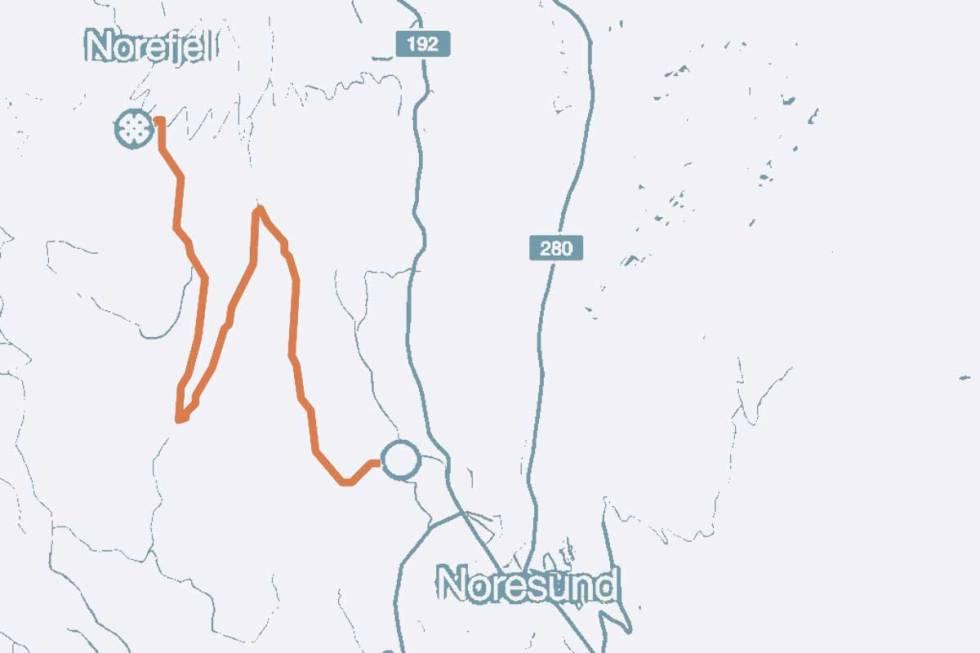 Norefjell-kart-sykkel