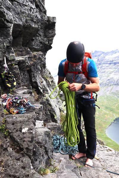 test klatrebukse fjellklatring Norrøna
