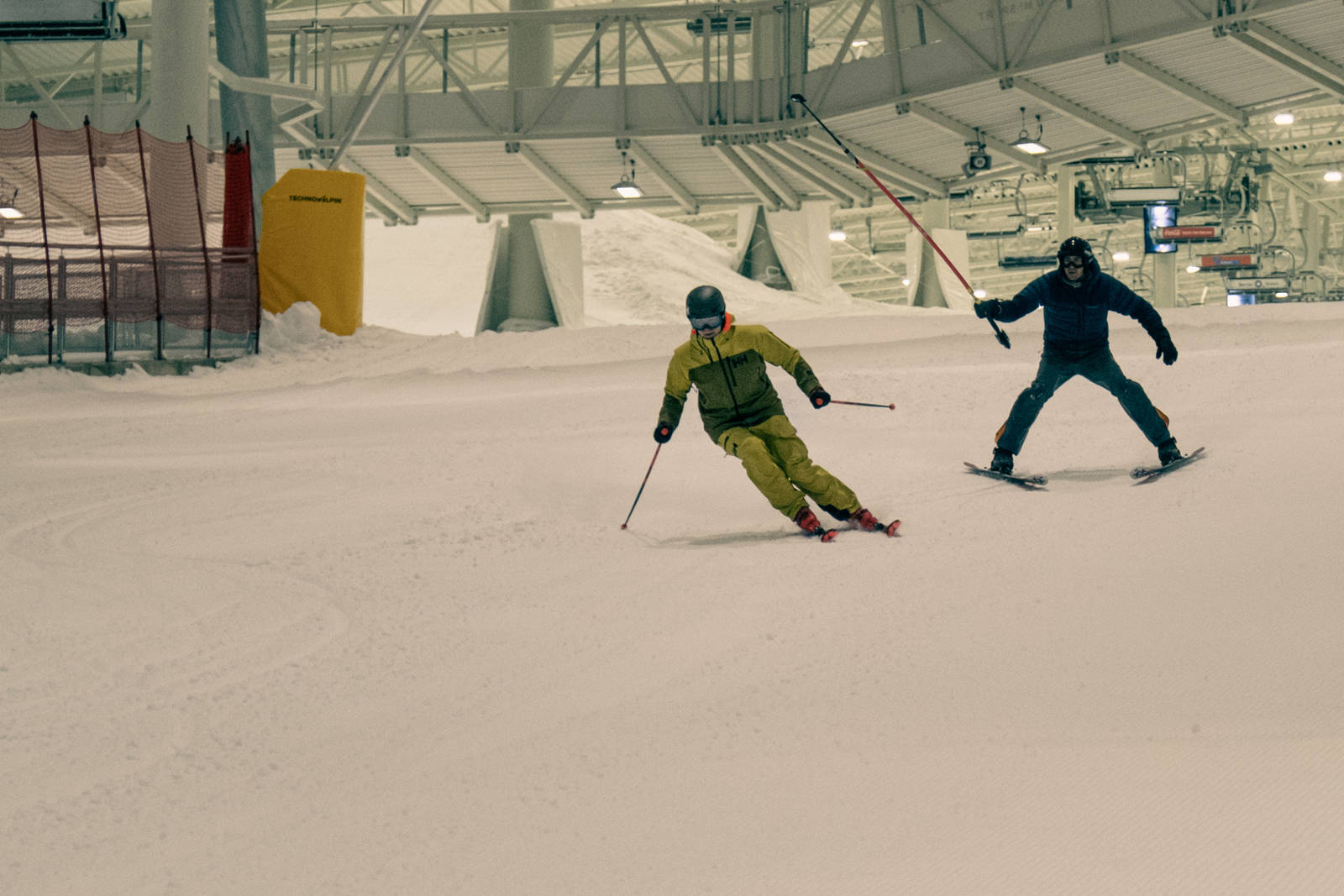Terping av skiteknikk Snø alpint