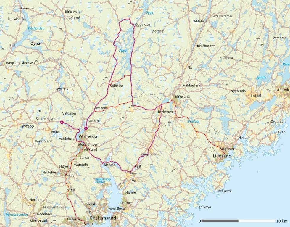 Ogge-rundt-på-sykkel-Kart