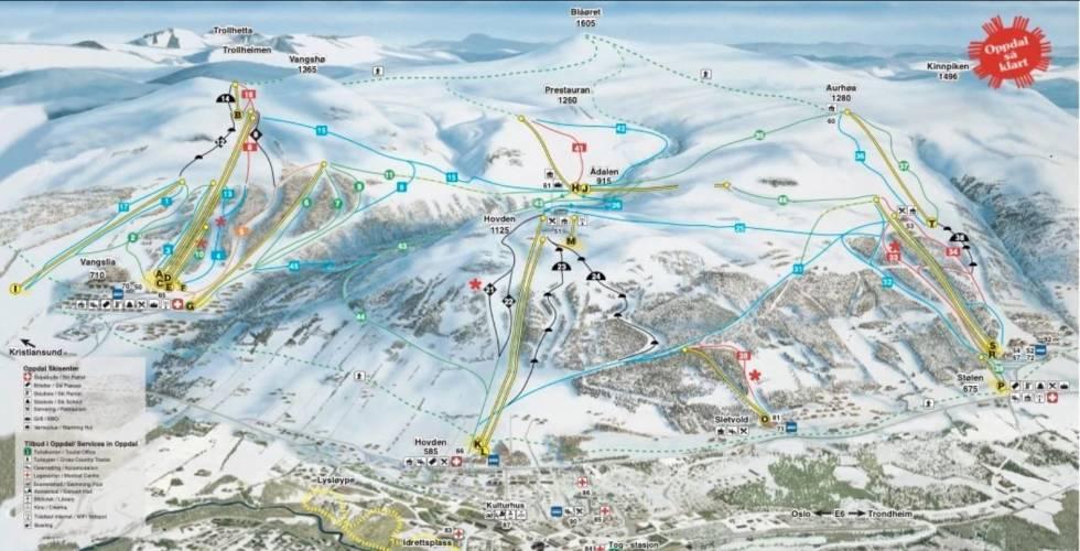 Oppdal skisenter Oppdal så klart alpinsenter trondheim alpint snowboard fri flyt guide snowboard ski freeride