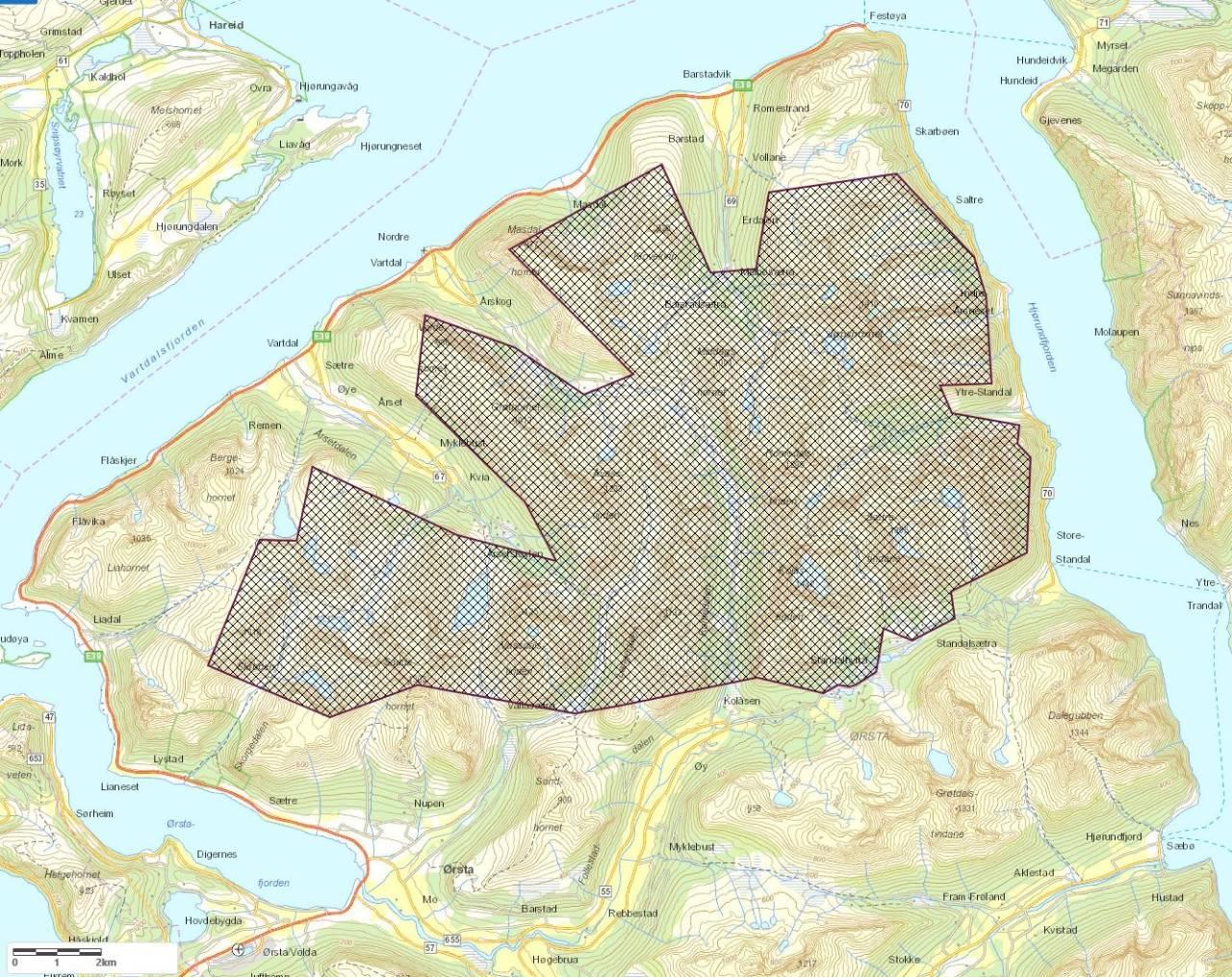 sunnmørsalpene landskapsvernområde nasjonalpark