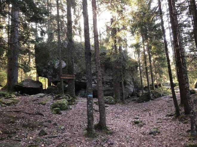 Oslomarkas største stein sørmarka