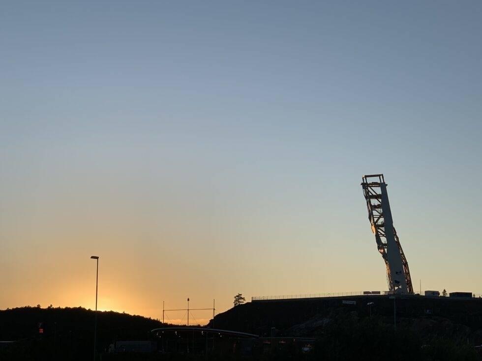 klatretårn over nyhet åpning