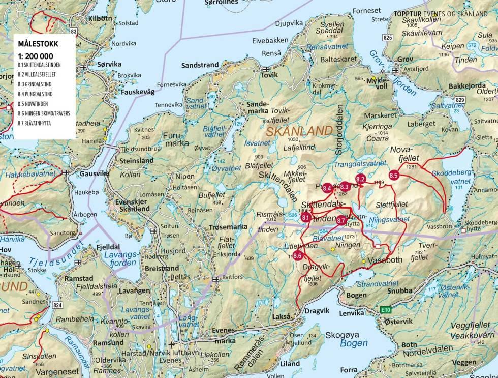 Oversiktskart-Evenes-Skånlan-Harstad-1