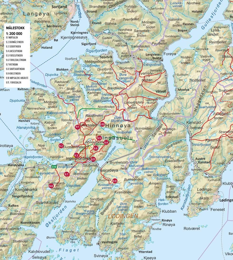 Oversiktskart-Møysalen-nasjonalpark