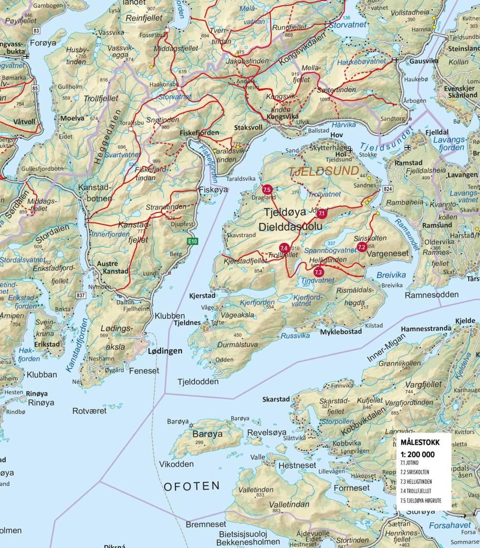 Oversiktskart-Tjeldøya-Harstad