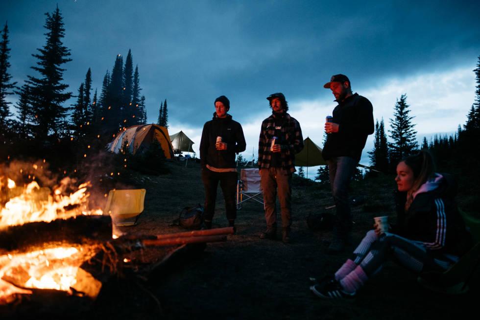 camping og stibygging i british colombia