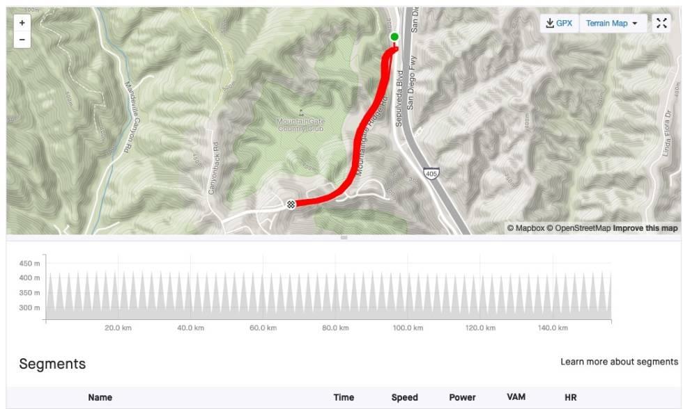 SOLID: 54 ganger opp og ned en bakke på 130 høydemeter var det som skulle til for å sette verdensrekord i everesting: Skjermdump, Strava.