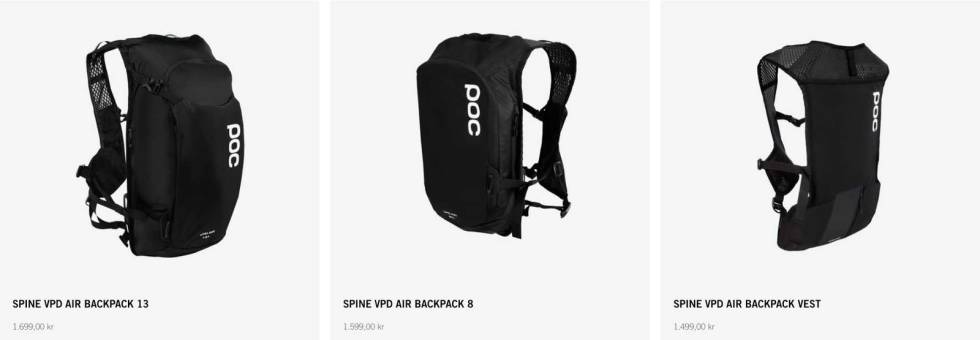test poc spine vpd air backpack vest