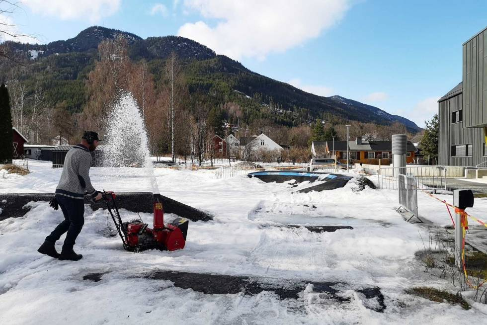 pumptrack nesbyen snøfreser