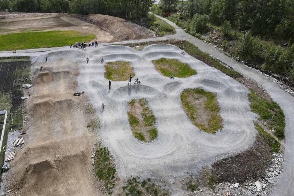 Pumptrack på Kaupanger i Sogndal