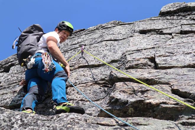 test klatrebukse fjellklatring Rab Torque
