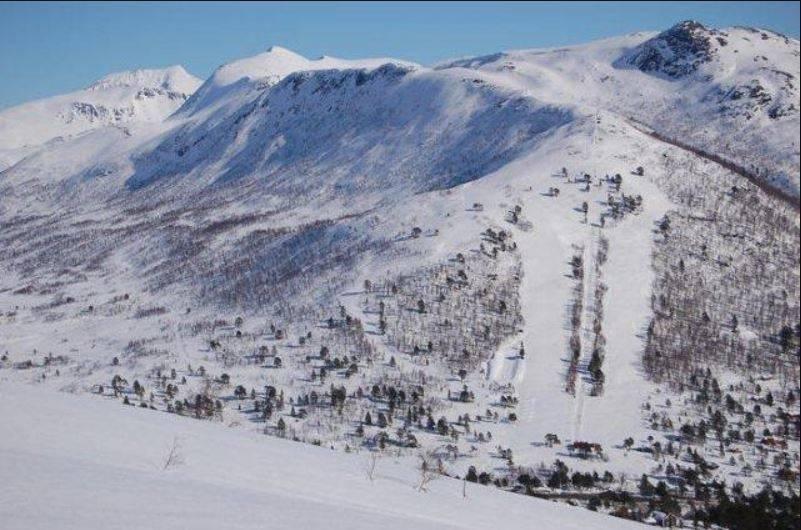 Oversiktsbilde fra skisenteret.