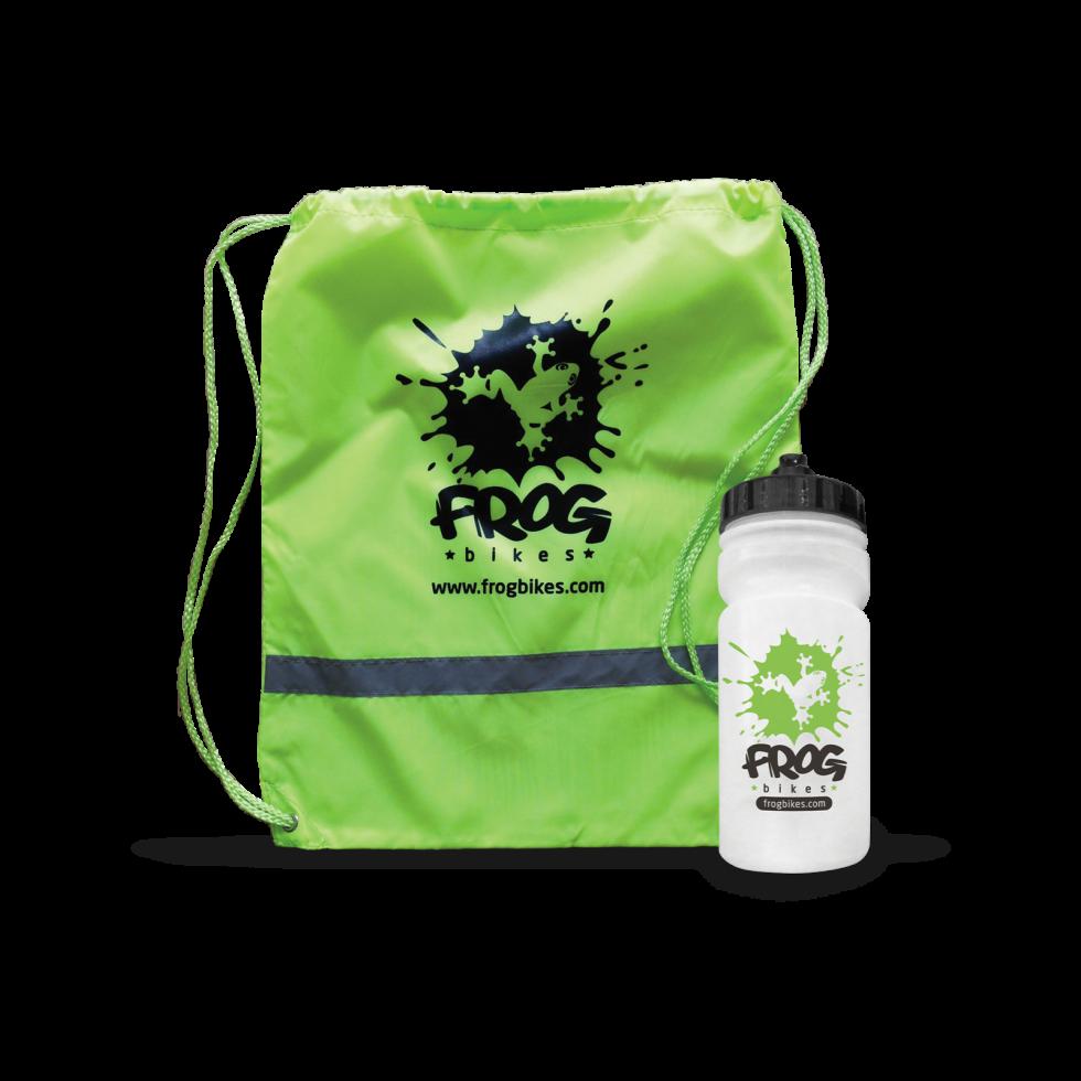 Frog-sekk og flaske