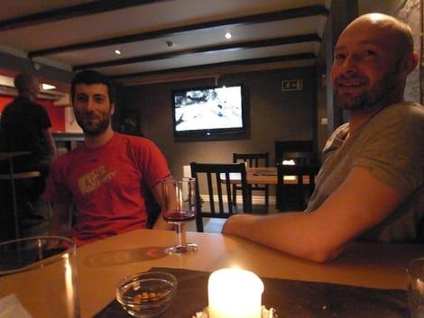 André Trondsen og Erik Neergaard i kjelleren på Climb Inn. Foto: Dag Hagen