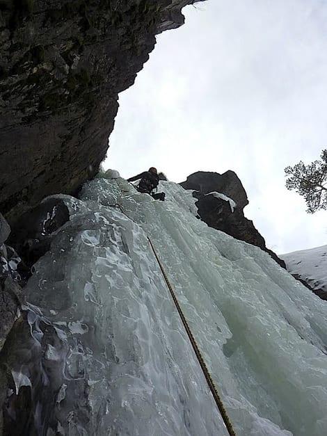 Dag Hagen leder siste lengde på Sabotørfossen. Foto: Erik Neergaard