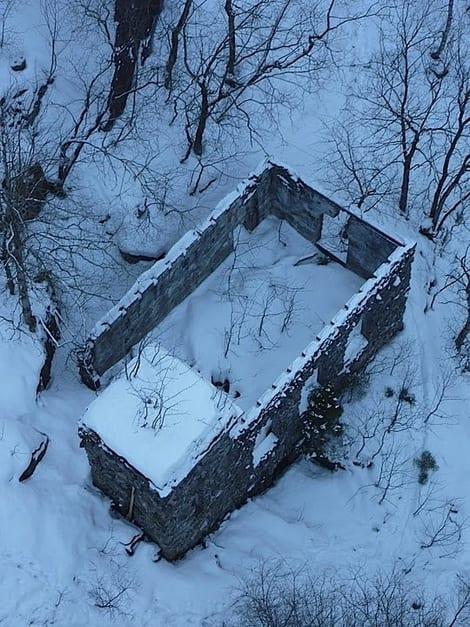 Der nede ligger det gamle kraftverket. Foto: Dag Hagen