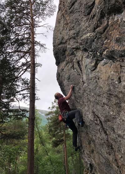 Ildsjel Rune Kvalsnes klatring oppdal