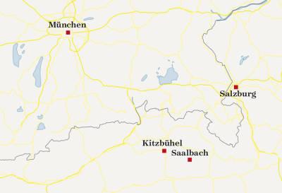 Saalbach-kart