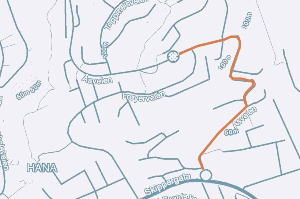 Sandnes bakken sykkel kart