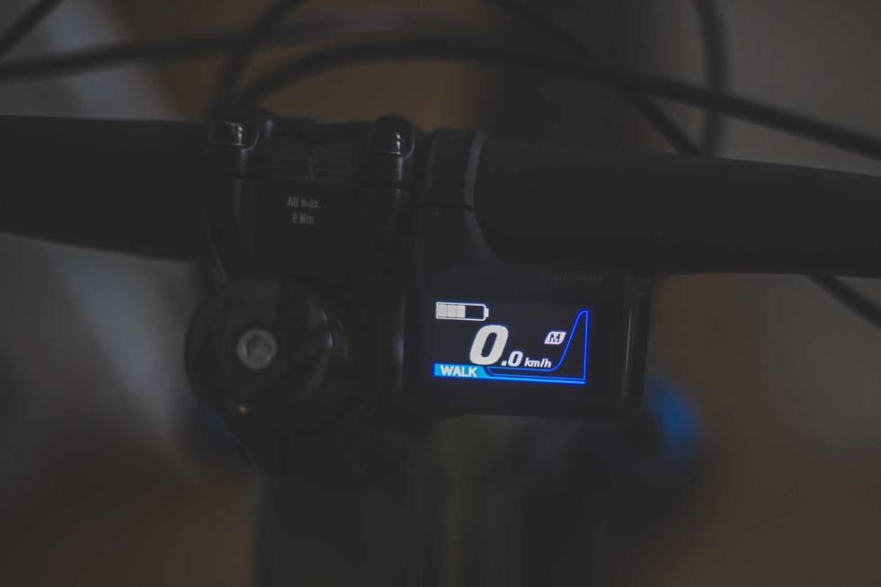 shimano ep8 elsykkel motor walk assist