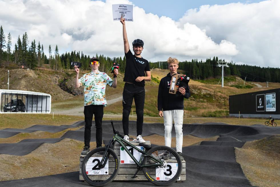 Simen Smestad vant Norwegian Pumptrack Challenge, mens Michael Thomson ble nummer to og Sander-Mathias Øverli-Mork ble nummer tre