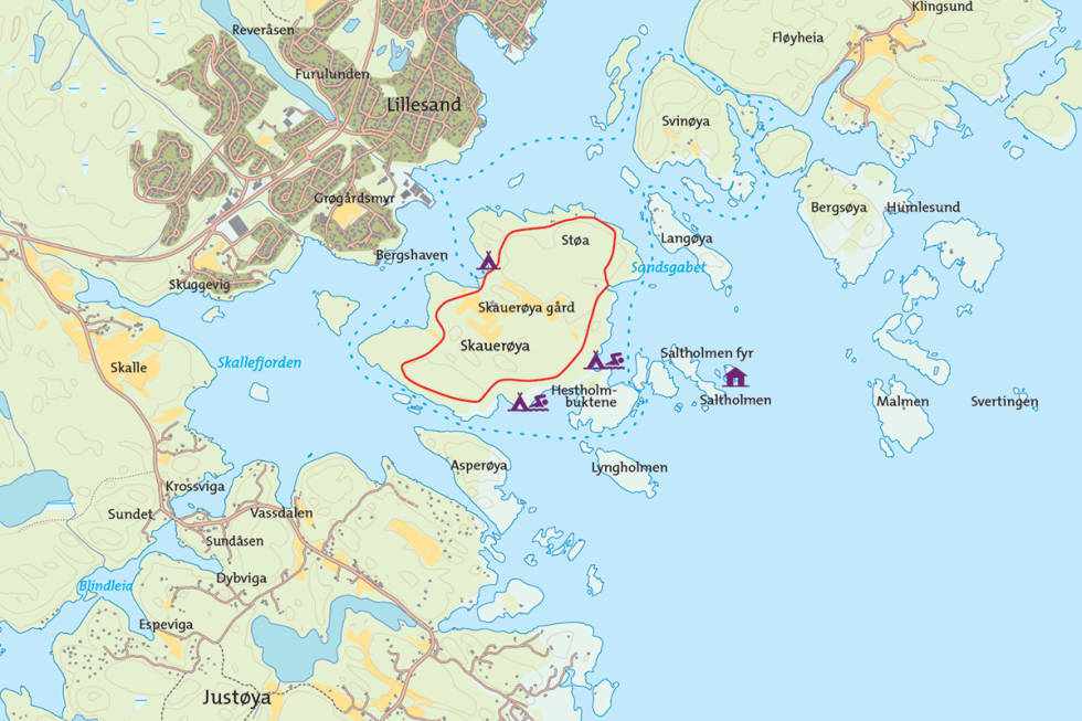 Skauerøya kart