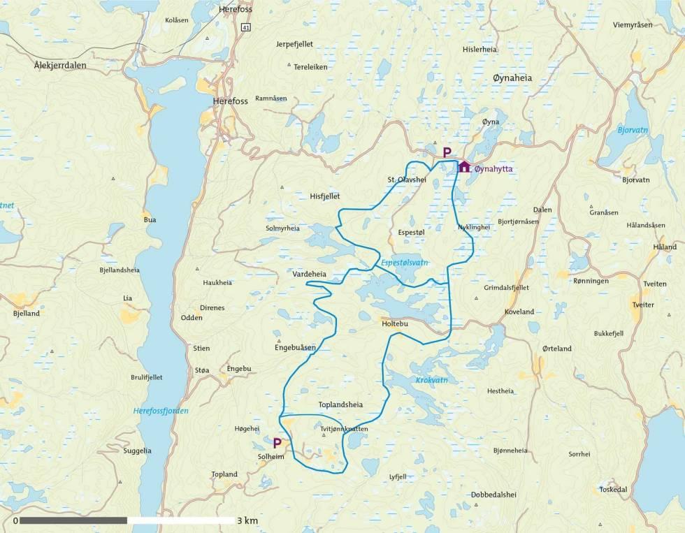 Ski-på-Toplandsheia-og-Øynaheia-Kart