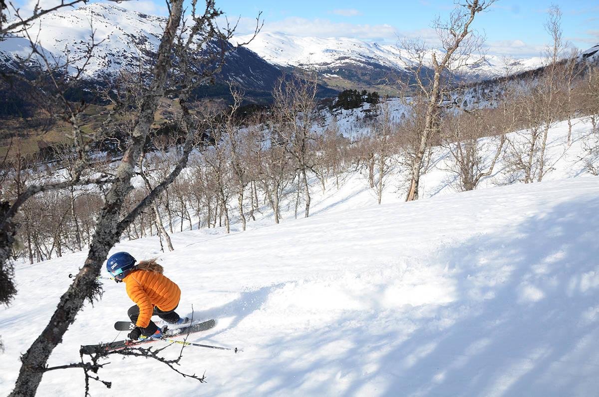 skikjøring ved Jølster skisenter