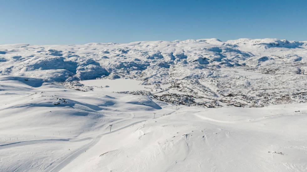 HØYFJELL: Det er store områder å ta av på Haukelifjell, hvis du er her på en god dag. Bilde: Christian Nerdrum
