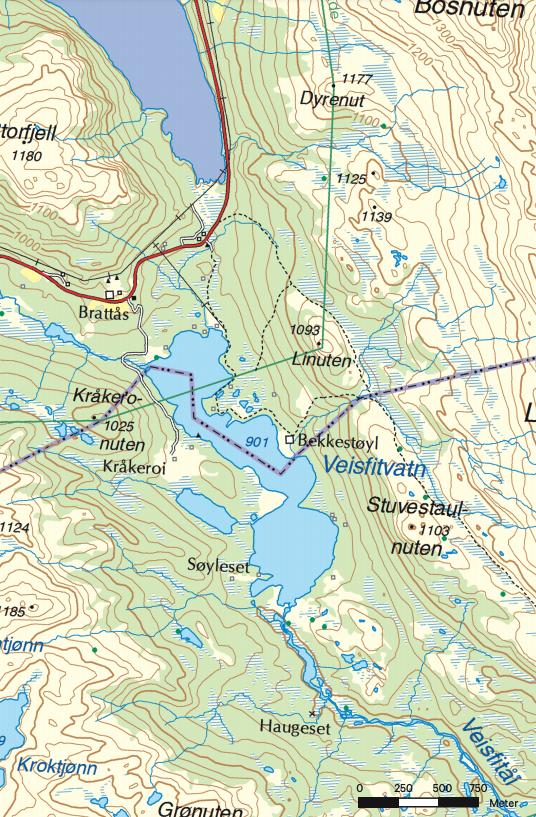 Veisfitvatn padletur telemark guide kart