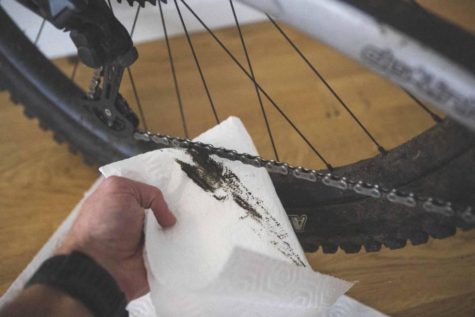 smøre kjedet sykkel